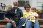 Kim Bateman with his wife Judy and their twin Grandkids, Zachary and Casey.  Grandma and Grandpa get to baby sit every T