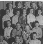 Birmingham's Adams School, 6th Grade (only part of the photo, with missing names): Back row: Doug Maxwell, Kathy Bouche