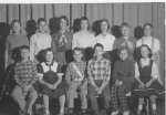 Adams School 6ht Grade, Does anyone know what this little group was? Back row: Kathy Quinn?, Tom Hajar, Betsy Rodgers, D