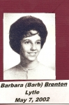 Barb Brenton Lytle  May 7, 2002