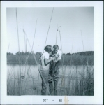 Mike Jochim and Tally Adams in a bog  as part of Honors Biology in the fall of 1962